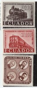Ecuador,Scott#642-644,Train,MNH