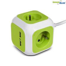 Enchufe de 4 tomas 2 USB GreenBlue GB118G