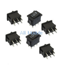 5PCS 6Pin DPDT ON-OFF-ON 3 Position Snap Boat Rocker Switch AC 6A/250V 10A/125V