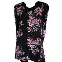 Tunic Tops Plus Size 10 12 14 16 18 20 EVERSUN Pink Black Dress Floral