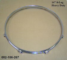 "14"" 8-Lug Triple Flanged H/Duty Hoop / Ring / Rim Snare, Toms, Drums 002-106-267"