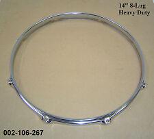 "14 "" 8-lug TRIPLE FLANGIATO H / dovere Hoop / RING / RIM Rullante, Toms, TAMBURI 002-106-267"