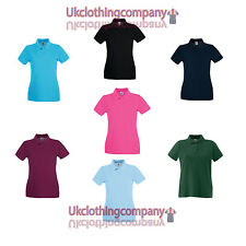 Womens Fruit Of The Loom Lady-Fit Premium Polo ladies t-shirt - xs s m l xl xxl