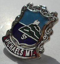 St. Michael's Mount Cornwall County Crest Small Pin Badge (1340) SW SELLER