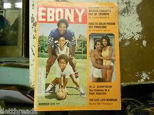 EBONY MAGAZINE - November 1976 - How to Solve Prison Sex Problems / O.J. Simpson