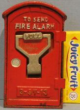 BIG PRICE CUT!  1930's/50's FIRE ALARM BOX BANK CAST IRON BANK, JAPAN, NEAR MINT