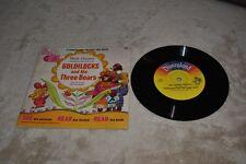 Disneyland Record Book Goldilocks and Three Bears 1967
