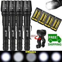 Tactical 350000Lumens 5Modes T6 LED 18650 Flashlight Aluminum Zoom Torch Lot