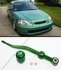 88-2000 HONDA CIVIC GREEN DUAL BEND SHORT THROW SHIFTER+TYPE-R STYLE SHIFT KNOB