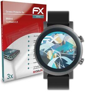 atFoliX 3x Folie für Mobvoi TicWatch E3 Schutzfolie klar&flexibel