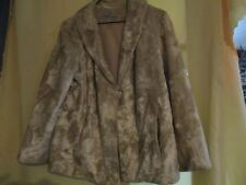 9f0341b3191 Vintage Stephen Dattner Simulated Fur Womens Coat Jacket Size 12