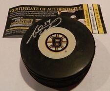 "Adam McQuaid Boston Bruins ""B"" Signed Autographed Puck w/ COA Auto"