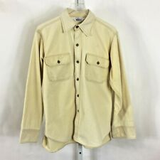 Vintage Woolrich Men's Long Sleeve Shirt Button Front Yellow Size L