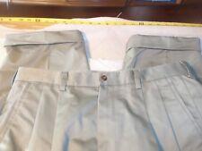 haggar 36 x 25 100% cotton pleated & cuffed #208
