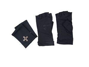 TOMMIE COPPER Unisex Black Compression Gloves/Wrist Sleeve NWOT