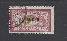 "FRENCH MOROCCO - 87 - USED - 1918 - ""TANGER"" O/P ON MAROC STAMPS"