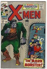 UNCANNY X MEN #40, MARVEL 1968,  VF CONDITION, FRANKENSTEIN APPEARS!!