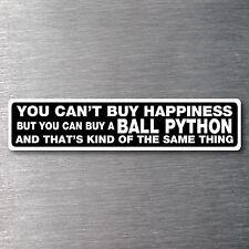 Buy a Ball Python sticker Premium 7 yr water/fade proof vinyl pet snake