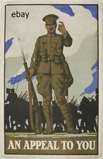 WW1 RECRUITING POSTER BRITISH ARMY AN APPEAL TO YOU GREAT WAR NEW A4 PRINT