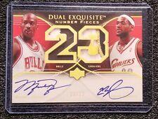 23/23 Michael Jordan Lebron James Dual Autograph Card. ACEO RP Mint Condition!!