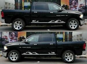 For Dodge Ram 1500 2500 2009-20 DOOR Side Stripes Truck Decals Vinyl Stickers