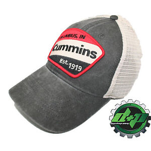 Cummins Vintage baseball hat cap Dodge diesel truck red stripe patch summer mesh