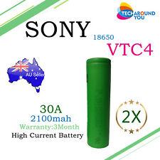 2x SONY US18650 2100mAh 30A VTC4 HIGH DRAIN Lithium Li-ion Rechargeable Battery