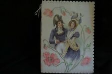 Vintage Victorian Soldier Couple Valentine Novelty Booklet Card Late 1800S