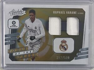 Raphael Varane 2020-21 Chronicles Soccer Tools Of The Trade Dual Patch #/500