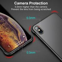 LD_ No Frame Matte Phone Protective Case for iPhone X XR XS Max 11 Pro Max Gra