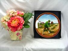 Golf Royal Worcester Golfing Collection Plate The Bunker by Melvyn Buckley Boxed