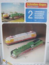 2 Lokomotive E-Lok 103 / Dampflok 050 Schreiber 1:45 Kartonbausatz Bastelbogen