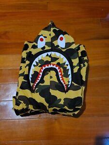 Bape WGM Shark Hoodie Yellow Camo Size XL (READ DESCRIPTION)