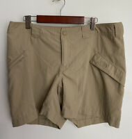 The North Face Womens Shorts Outdoor Hiking Pockets Nylon Tan Beige Size 10