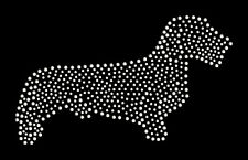 Dachshund wire haired rhinestone bling transfer