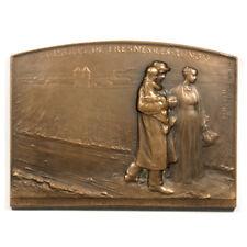France Prisons de Fresnes-les-Rungis Prison Life 58 x 80mm Bronze Plaquette 1901