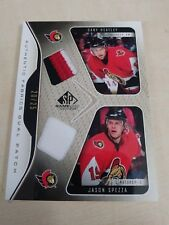 Dany Heatley Jason Spezza 2006-07 SP Game Used Dual Patch Relic #20/25 Senators