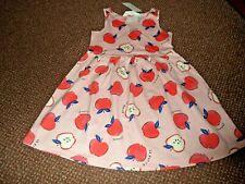 NEW girls h+m pink apple summer dress 8 - 9 - 10 YEARS - bnwt