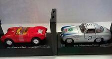 CARARAMA 1:43 AUTO DIE CAST PORSCHE SPYDER 550A + MERCEDES-BENZ 300SL ART 252