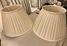 Laura Ashley x 2 Cream Silk Lampshades 14 inches