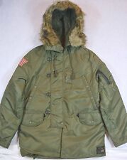 Ralph Lauren Denim Supply Down Jacket Hooded Coat Military Parka L NWT $345