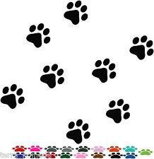 141 x cane Paw Print Adesivi Auto Decalcomanie animali un sacco di colori, 4x4