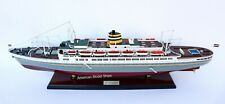 """SS Statendam Cruise Ship Model 31"""" Handcrafted Wooden Model Scale 1:250"""
