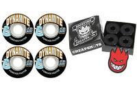 Dynamite Forever 54mm Skateboard Wheels + Spitfire Bearings
