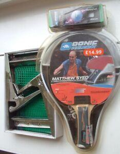 Schildkrot Clipmatic net posts & Donic table tennis bat+case+balls