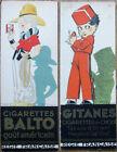 Rene Vincent/Artist-Signed 1930s Gitanes Cigarette Ad Card / Bookmark - Art Deco
