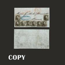 BELGIUM 1849, 10c  KING LEOPOLD I 8 SINGLES   ESTIMATE VALUE 50000 $   COPY