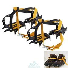 Adjustable Outdoor Ski Trekking Climbing Crampons Antislip Ice Snow Shoe Spikes