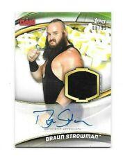 Braun Strowman 2019 WWE Money In The Bank SHIRT relic + AUTO 06/99