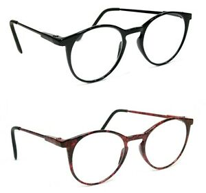 NWT Retro Reading Glasses Classic Lucca Style Small Round Frame Men Women Reader